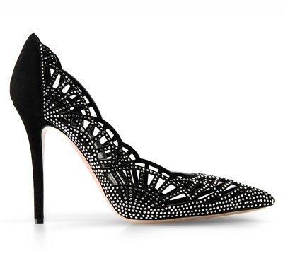 Stiletto con diamantes artificiales de Giorgio Armani