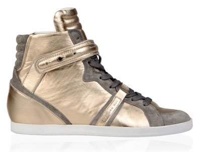 Metallic leather sneakers de Barbara Bui